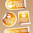 Healthy Food stickers. - Stock Vector
