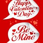 Valentine stickers. — Stock Vector