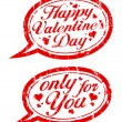 Stock Vector: Valentine`s day stamps.