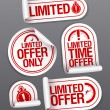 Limited offer sale stickers. — Stock Vector