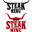 Royalty-Free Stock Vector Image: Steak menu signs.