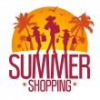 Summer shopping design template . — Cтоковый вектор #17441821