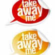Take away me stickers. — Stock Vector #17441825