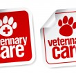 Veterinary care stickers. — Stock Vector #17441839