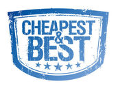 Cheapest and best stamp. — Vector de stock