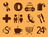 Symbols roadside services. — Stock Vector