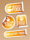 Healthy Food stickers. — Stock Vector