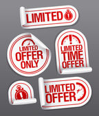 Limited offer sale stickers. — Stockvector