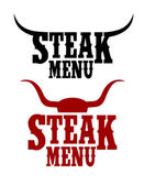 Steak menu signs. — Stock Vector