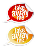 Take away me stickers. — Stock Vector