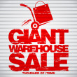 Vector de stock : Giant warehouse sale design template.