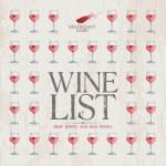 Wine List Menu template. — Stock Vector