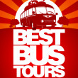 Stok Vektör: Best bus tour design template.