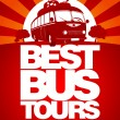 Wektor stockowy : Best bus tour design template.