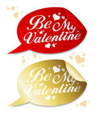 Be My Valentine stickers. — Stock Vector