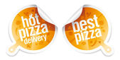 Best pizza stickers. — Stock Vector