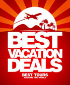 Best vacation deals design template. — Vector de stock