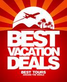 Las mejores vacaciones trata de plantilla de diseño. — Vector de stock