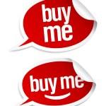 Buy me stickers set. — Stock Vector