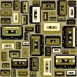Cassette tape seamless pattern. - Vettoriali Stock