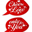 Choose love stickers. — Stock Vector
