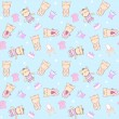 Child seamless pattern with cats. — Imagen vectorial