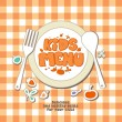 Kids menu. — Vettoriale Stock #18620075