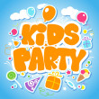 Stock Vector: Kids Party design template.