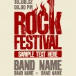 Vector de stock : Rock festival design template.