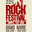 Cтоковый вектор: Rock festival design template.