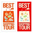 Stock Vector: Best shopping tour banner.