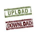 Download upload stamps — Stock Vector