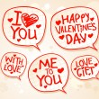 Valentine`s day speech bubbles. — Imagen vectorial