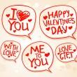 Valentine`s day speech bubbles. — Stock Vector