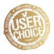 User choice stamp. — Stock Vector