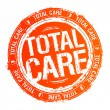 Stock Vector: Total care stamp.