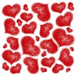 Stock Vector: Background with red hearts