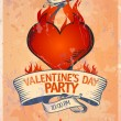 Valentine`s Day Party design template. — Stock Vector