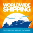 Vector de stock : Worldwide shipping design.