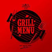 Menu grill. — Wektor stockowy
