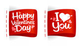 Valentine day labels for gifts. — 图库矢量图片
