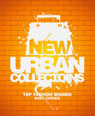New urban collections design template. — Stock Vector