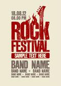 Rock festivali tasarım şablonu. — Stok Vektör