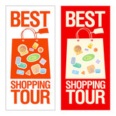 Best shopping tour banner. — Stock Vector