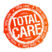 Total care stamp. — Stock Vector