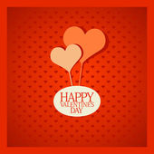 Valentine card with hearts. — Stock Vector