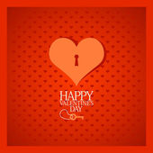 Valentine card with heart. — Stock Vector
