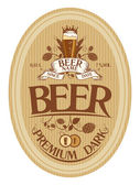Beer label design. — Stock Vector