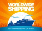 Worldwide shipping design. — Stock Vector