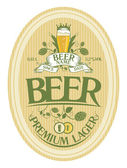 Bier-etikettengestaltung. — Stockvektor